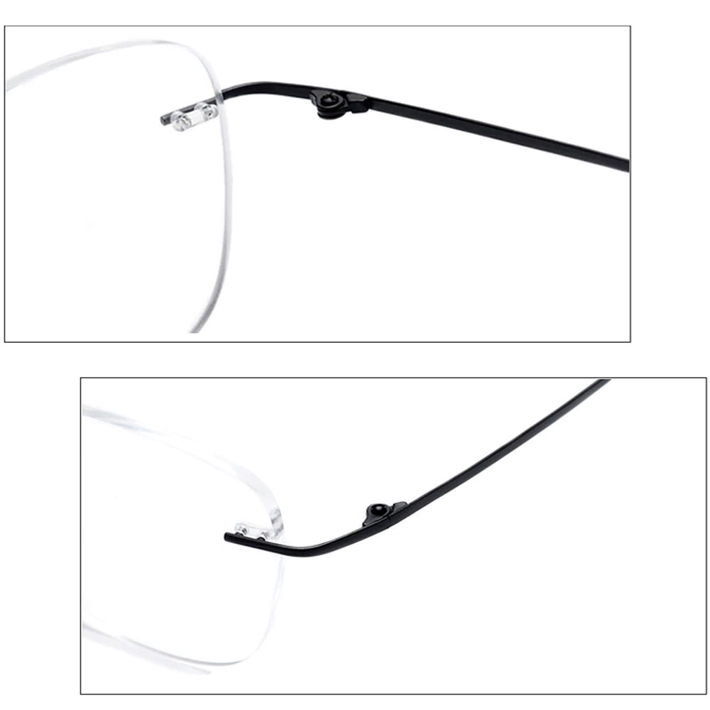 rectangle rimless titanium frames