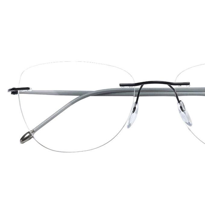 rimless titanium eyeglasses