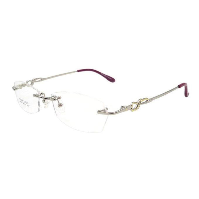 rimless eyeglasses frame
